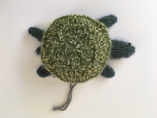 Green turtle ornament