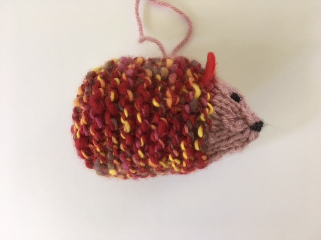 Hedgehog side view ornament