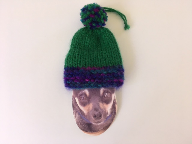 Henry head with stocking cap ornament