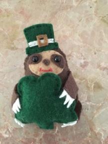 Sean O'Sloth with big shamrock